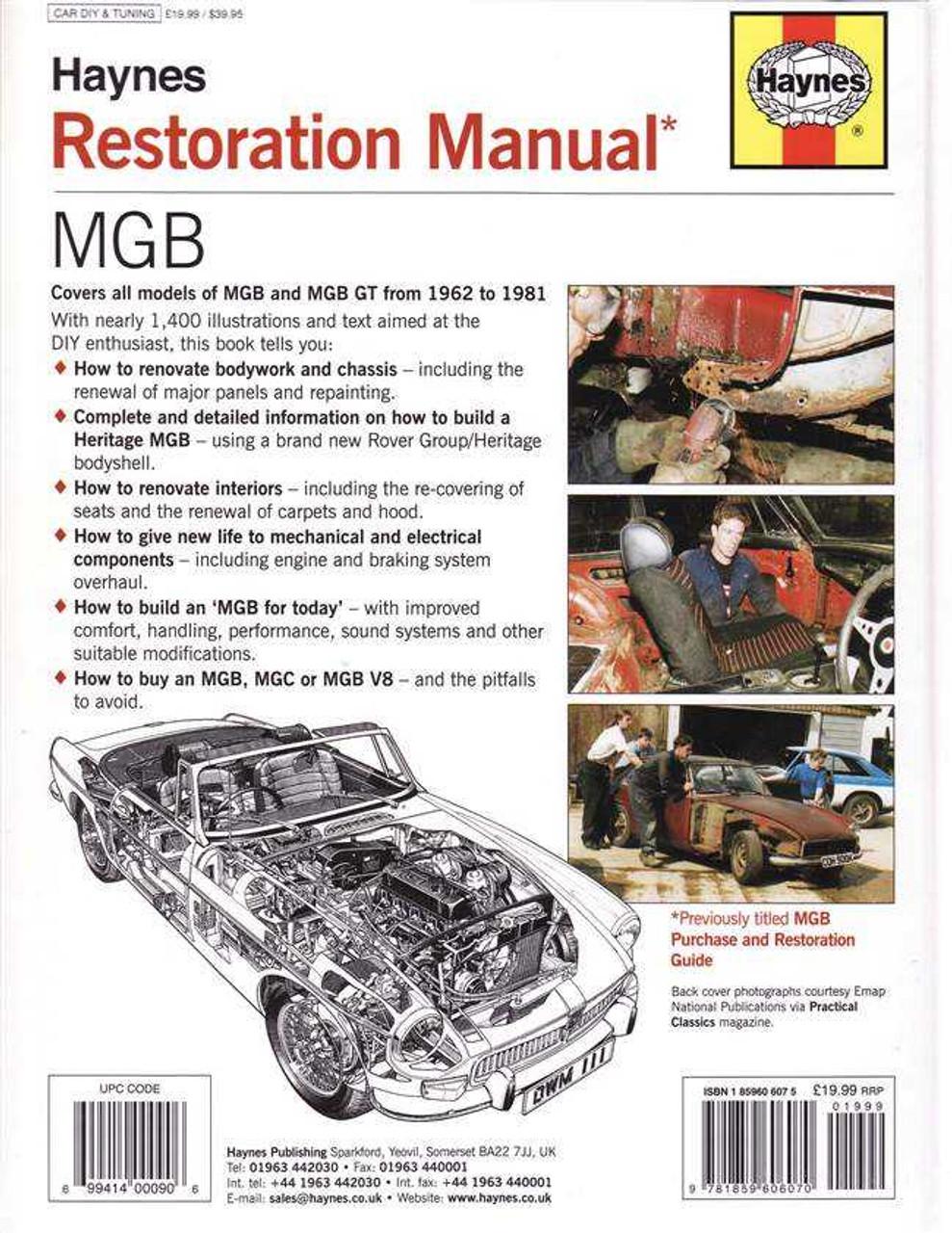mgb restoration manual rh automotobookshop com au 1975 MGB 1977 MGB