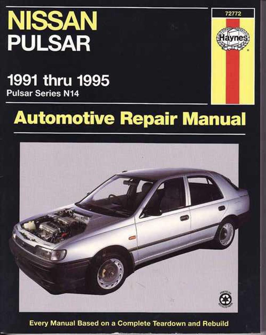 nissan pulsar n14 1991 1995 workshop manual rh automotobookshop com au nissan pulsar n15 repair manual free download nissan pulsar gtir haynes manual