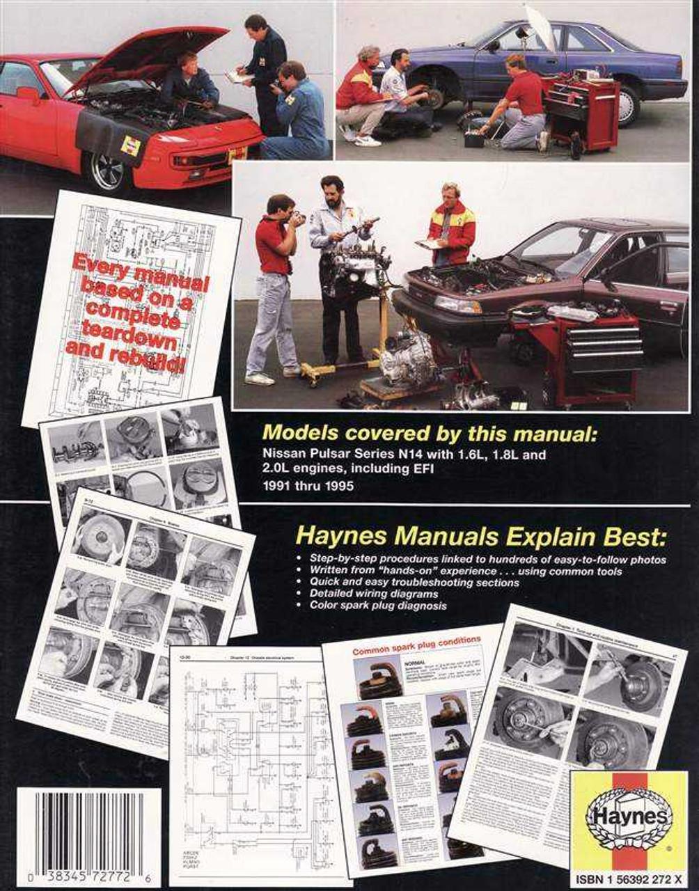 Nissan pulsar n14 1991 1995 workshop manual cheapraybanclubmaster Gallery