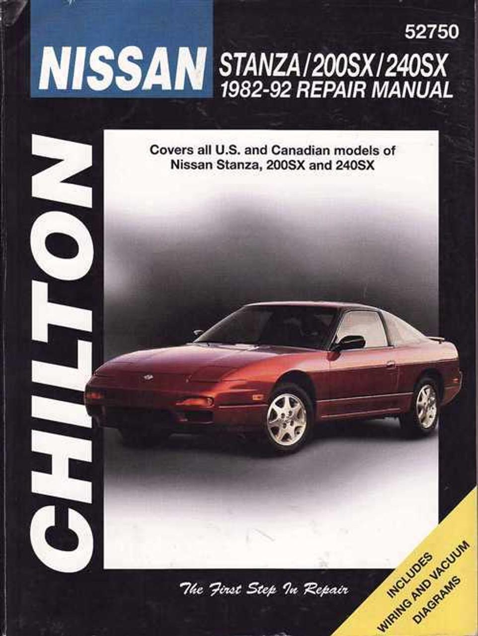 nissan stanza pintara 200sx 240sx s13 1982 1992 workshop manual rh automotobookshop com au s13 shop manual nissan s13 workshop manual