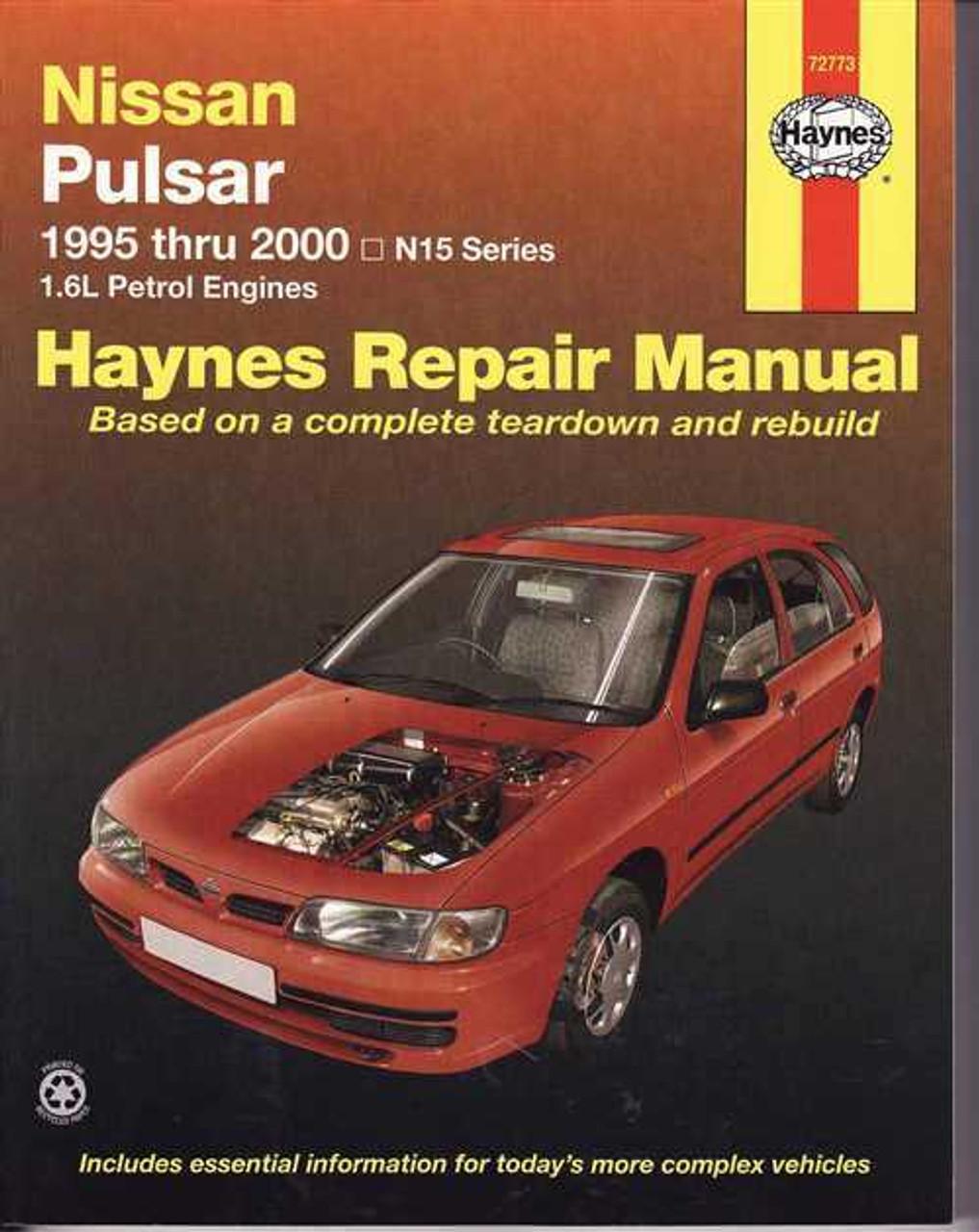 Nissan Pulsar N15 Series 16L Petrol Engines 1995 2000 Workshop