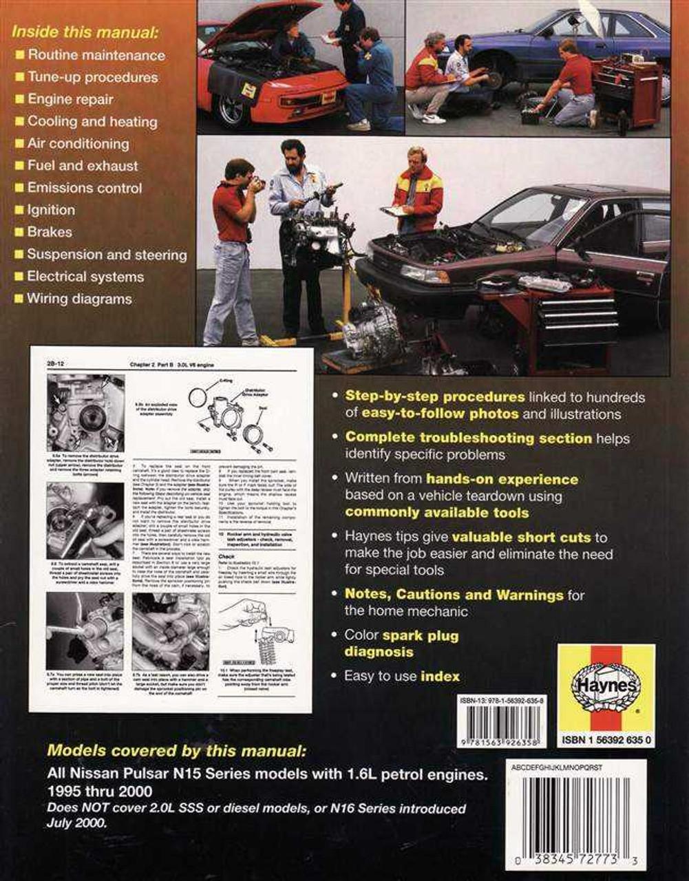 Nissan Pulsar N15 Series  1 6l Petrol Engines 1995