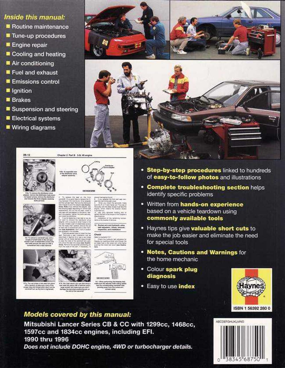 mitsubishi lancer cb amp cc 1990 1996 workshop manual rh automotobookshop com au Mygmlink Owner's Manual Clymer Manuals