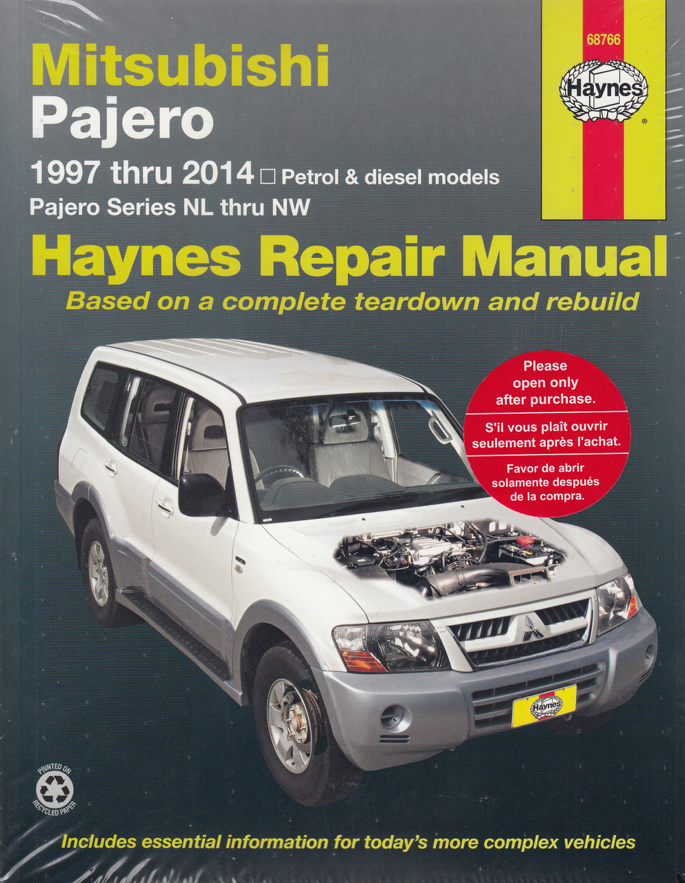 Mitsubishi Pajero NL, NM, NP, NS, NT petrol, diesel 1997 - 2009 Workshop  Manual