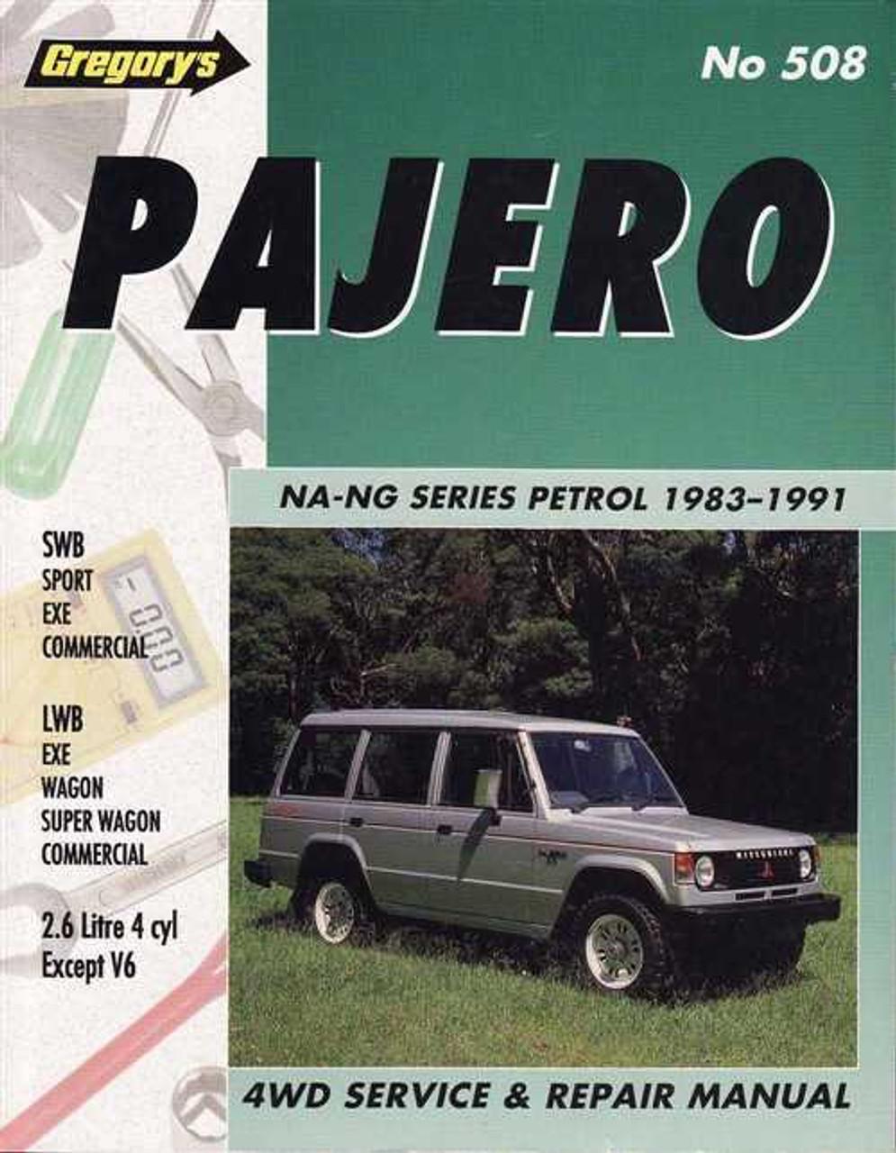 mitsubishi pajero na ng series 1983 1991 workshop manual rh automotobookshop com au Truck Manual Yamaha Service Manuals PDF