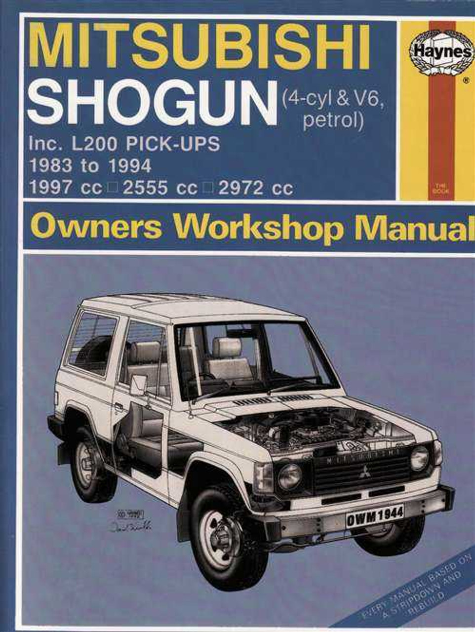 Haynes Workshop manual mitsubishi l200