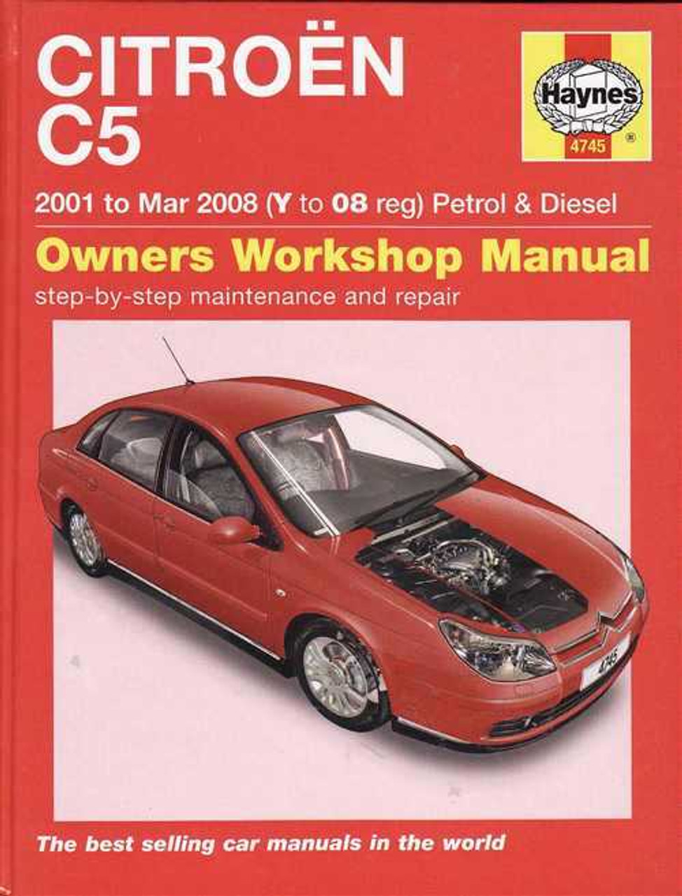 citroen c5 2001 2008 petrol amp diesel workshop manual rh automotobookshop com au Citroen C3 Citroen C3