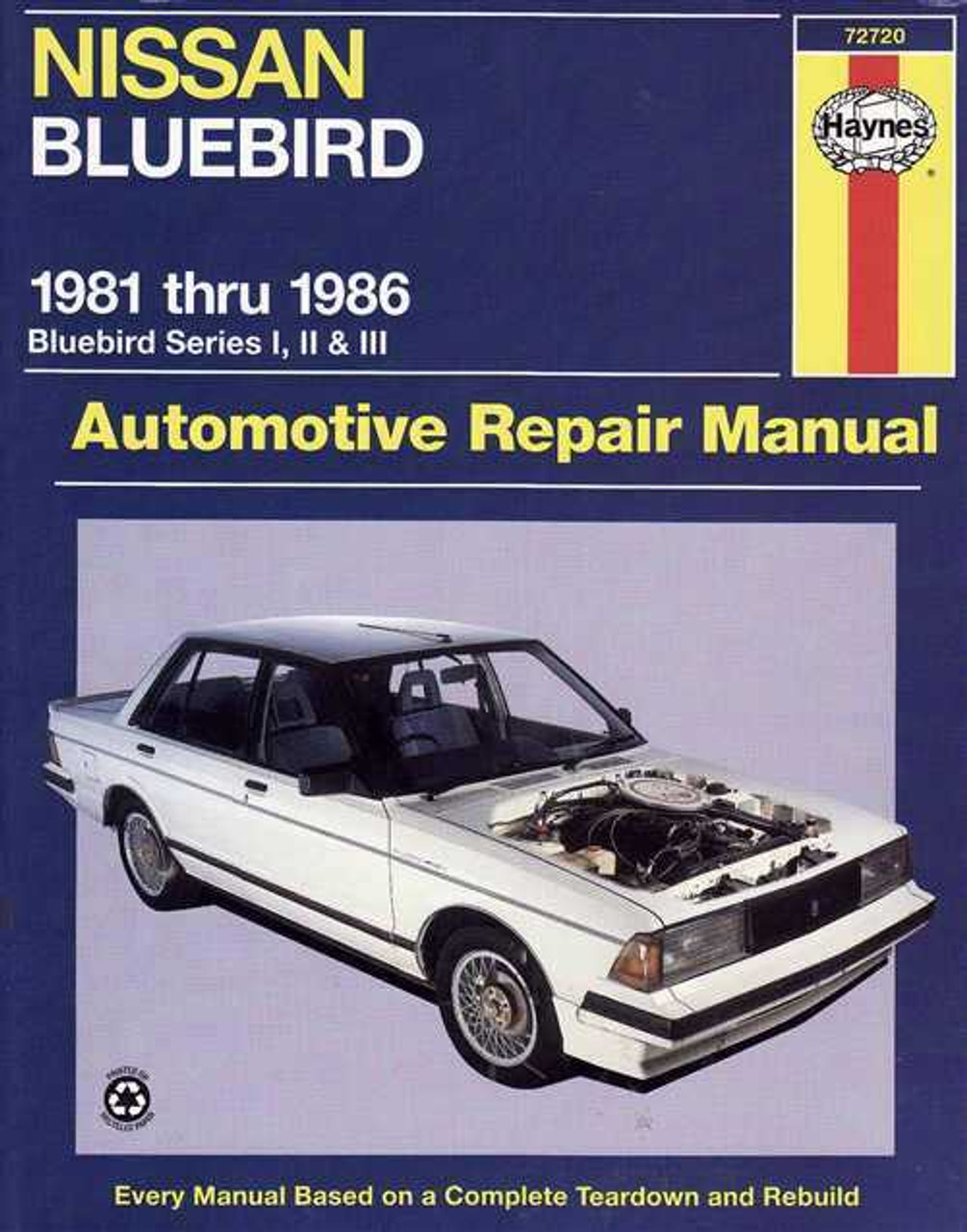 nissan bluebird series 1 2 amp 3 1981 1986 workshop manual rh automotobookshop com au 1995 Nissan Bluebird 1987 Nissan Bluebird