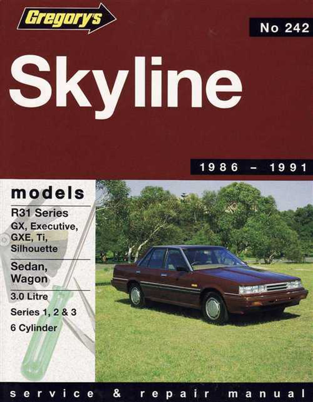 nissan skyline 1986 1991 workshop manual rh automotobookshop com au R27 Skyline Skyline R36