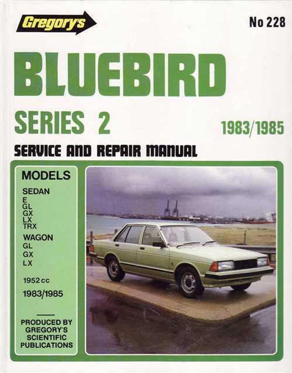 nissan bluebird series 2 1983 1985 workshop manual rh automotobookshop com au 1992 Nissan Bluebird Nissan Bluebird 1994
