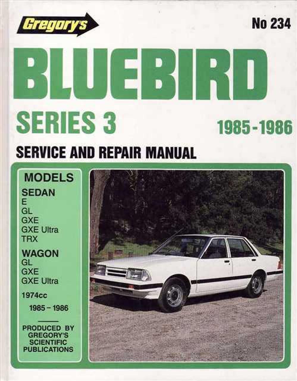 nissan bluebird series 3 1985 1986 workshop manual rh automotobookshop com au 1987 Nissan Bluebird 1992 Nissan Bluebird
