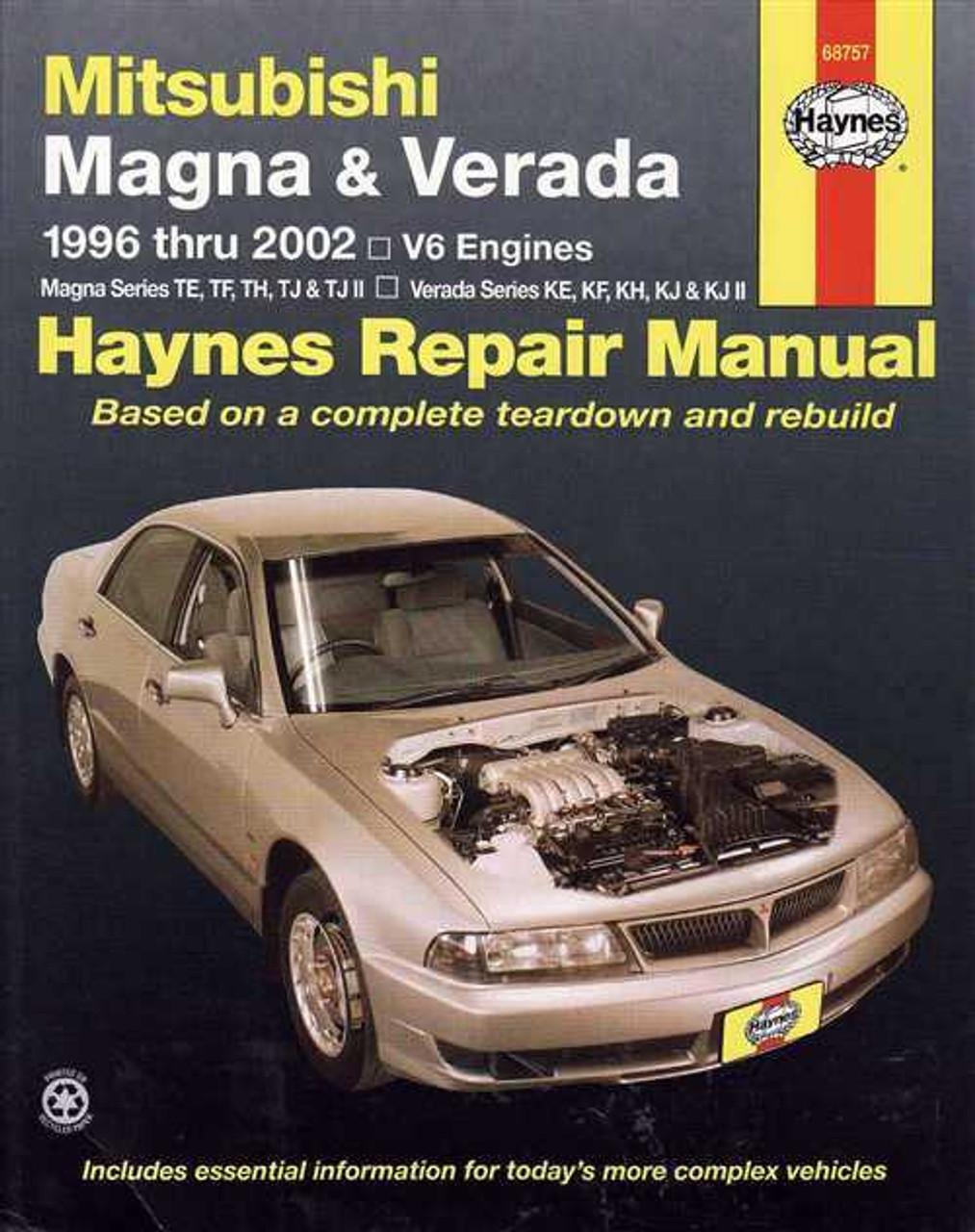 mitsubishi magna amp verada 1996 2002 workshop manual rh automotobookshop com au 1997 Mitsubishi Montero Sport Manual Mitsubishi Montero Engine Manual