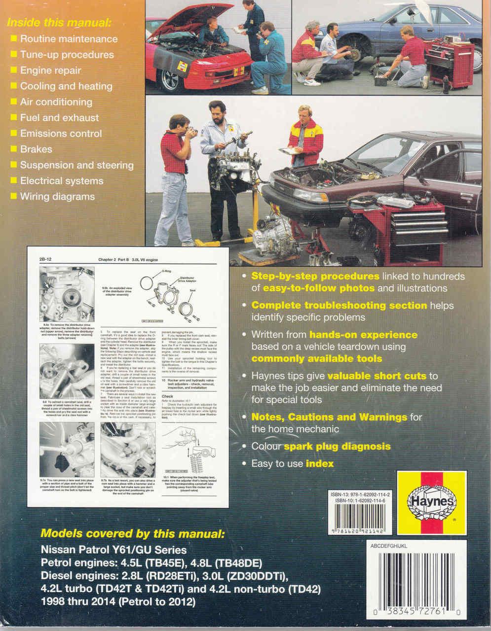 Nissan Patrol Gu Series Petrol Diesel 1998 2011 Workshop Manual 4 2l Engine Diagram 2014 Back