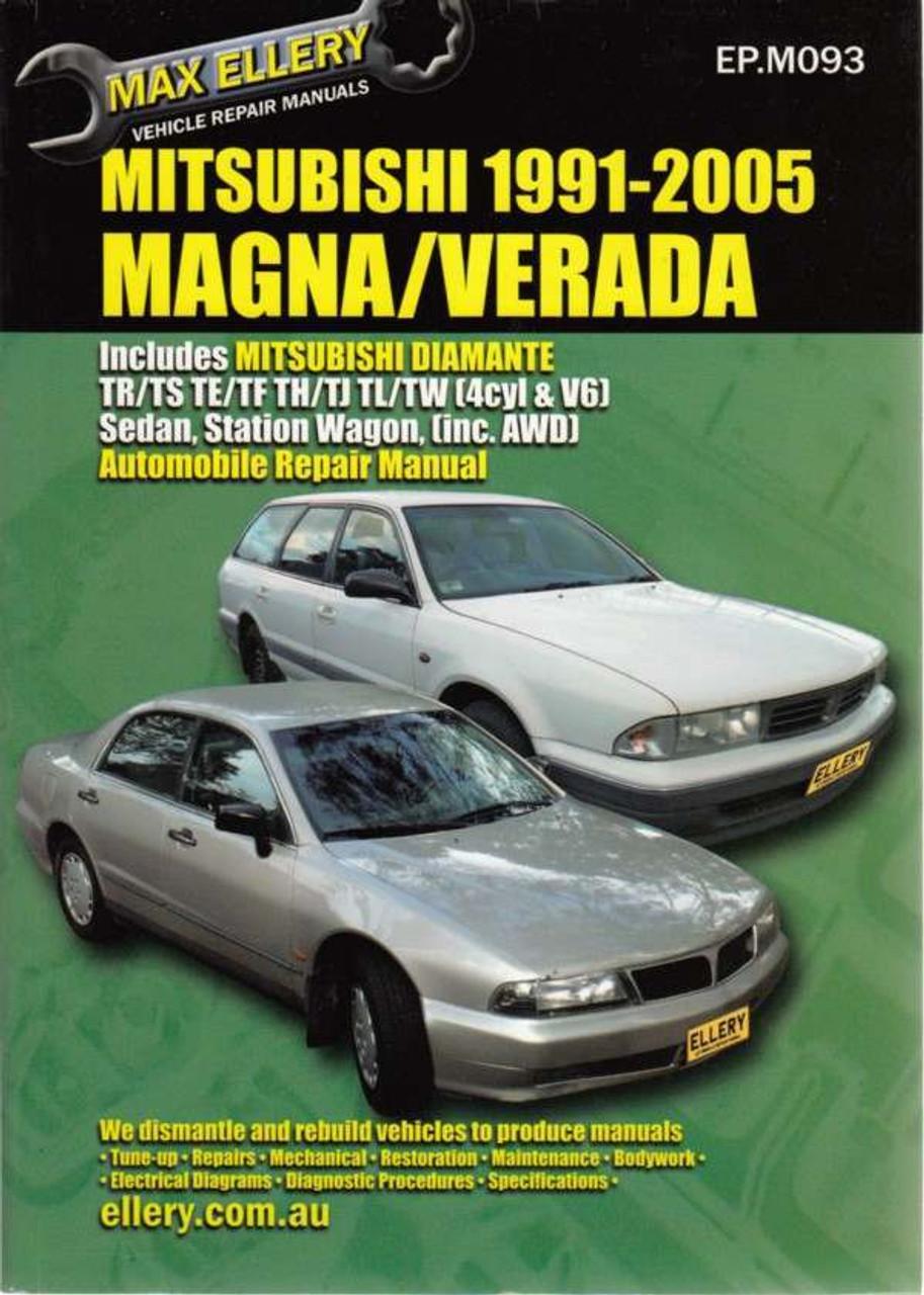 mitsubishi magna verada tr ts te tf th tj tl tw 1991 2005 rh automotobookshop com au 1992 Mitsubishi Mirage Mitsubishi Starion