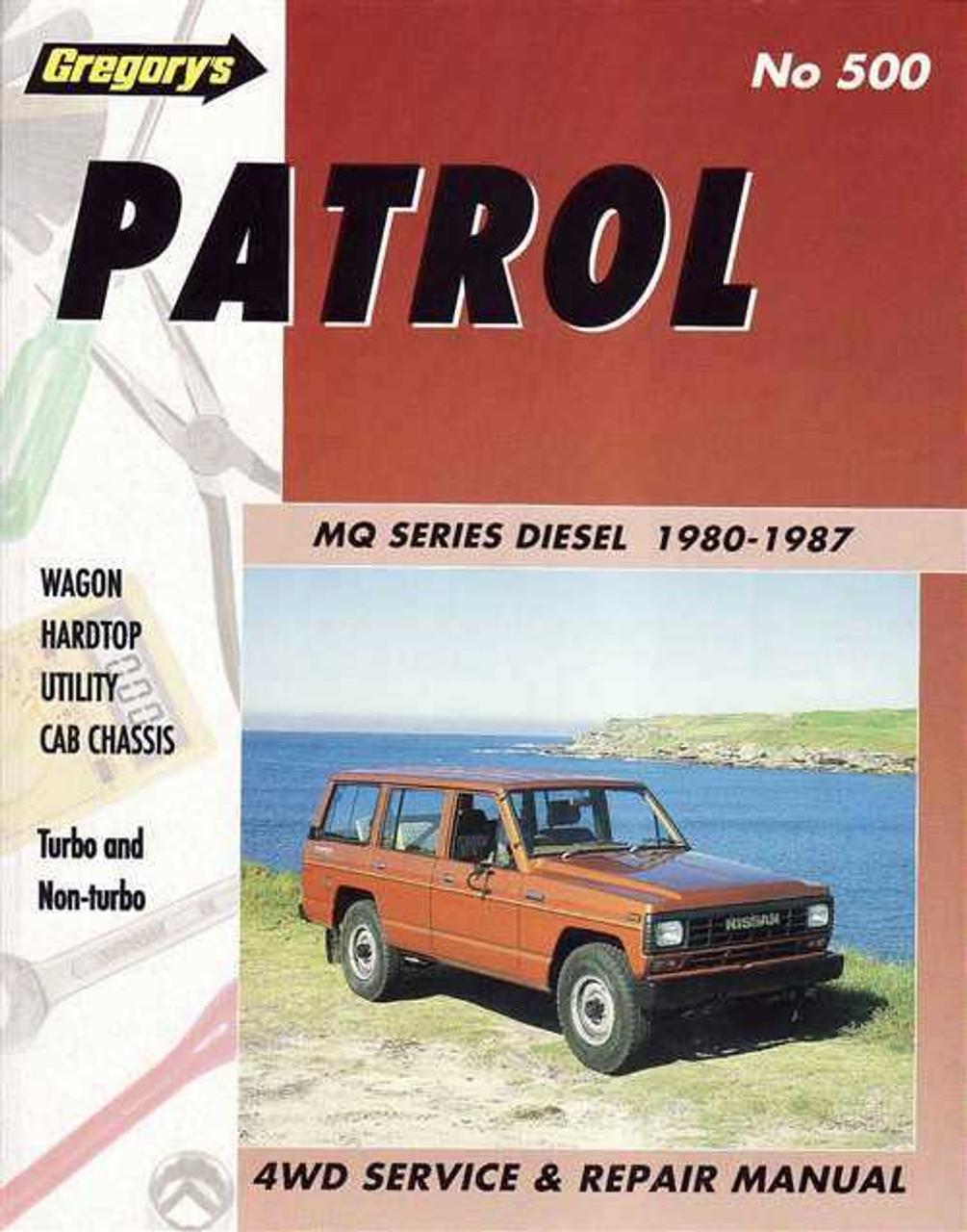 nissan patrol mq series 1980 1987 workshop manual rh automotobookshop com au Nissan CR Engine manual nissan patrol rd28t