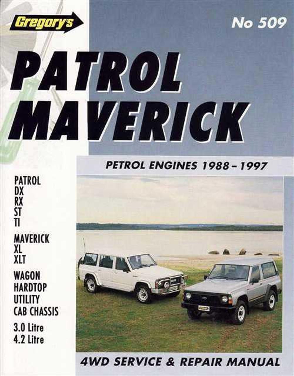 nissan patrol ford maverick petrol engines 1988 1997 workshop manual rh automotobookshop com au Nissan Pathfinder Nissan Murano