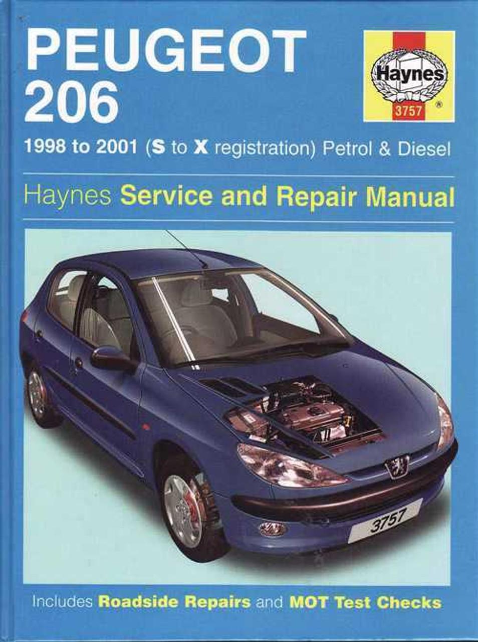 peugeot 206 1998 2001 workshop manual rh automotobookshop com au Peugeot 206 User Manual Peugeot 206 2015 Manual