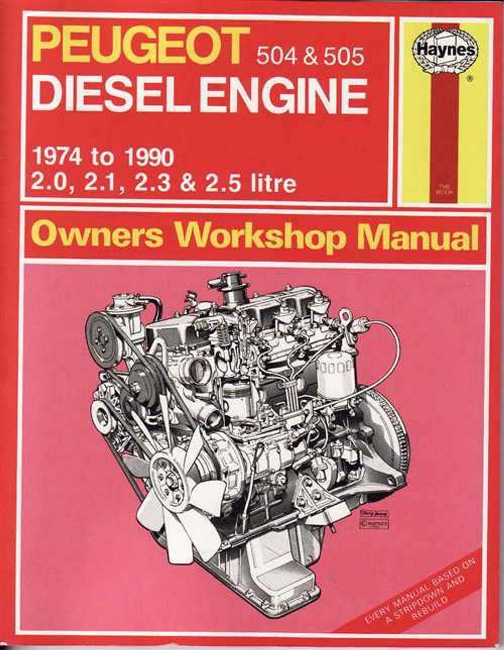 peugeot 504 amp 505 diesel engine 1974 1990 workshop manual rh automotobookshop com au 1985 Peugeot 505 Turbo Peugeot 505 Turbo