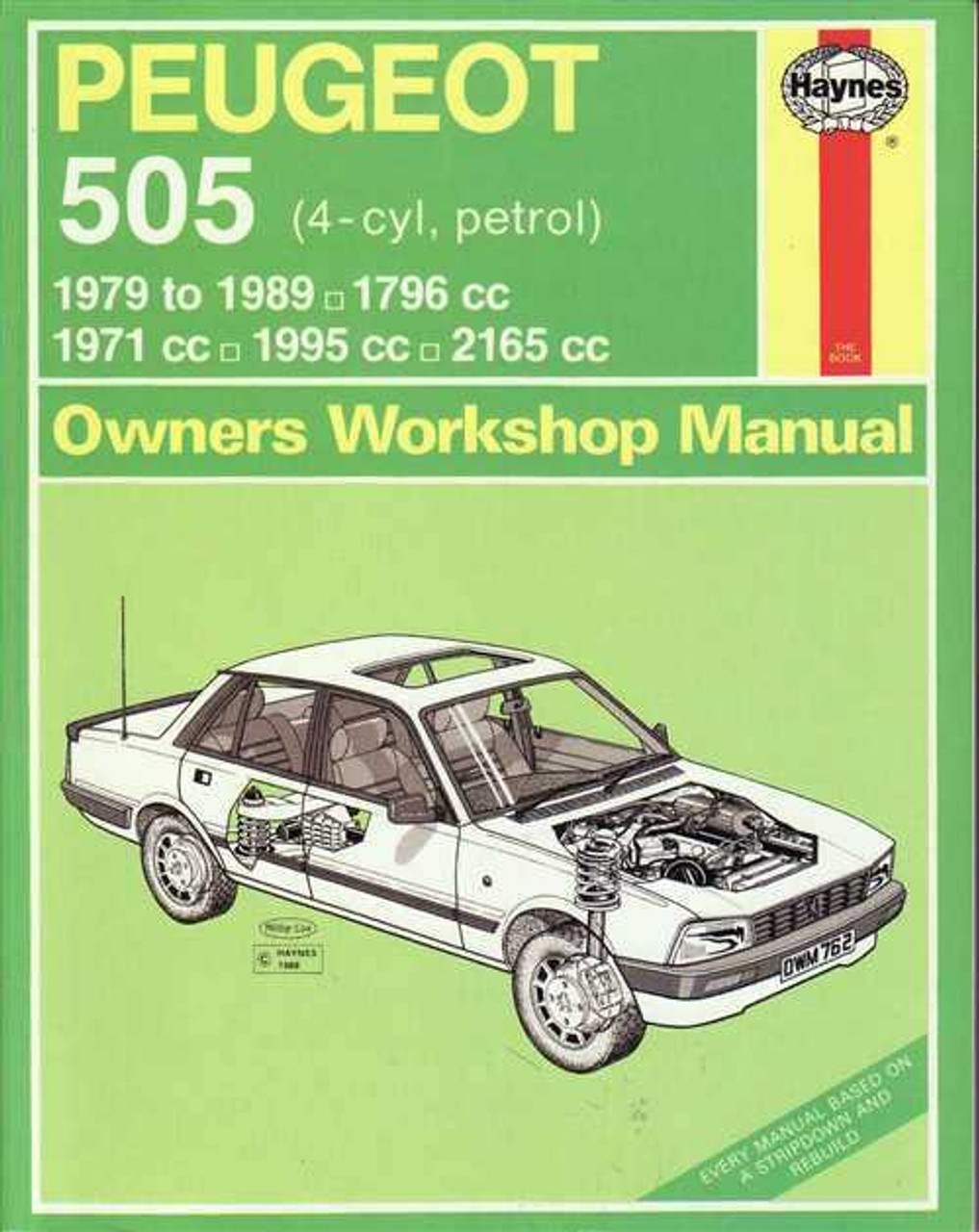 peugeot 505 1971 1995 workshop manual rh automotobookshop com au Peugeot 505 GTI Dash Board 1987-1992 Peugeot 505 Craigslist