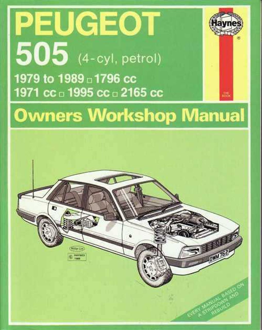 peugeot 505 1971 1995 workshop manual rh automotobookshop com au Peugeot 505 STI Peugeot 505 STI
