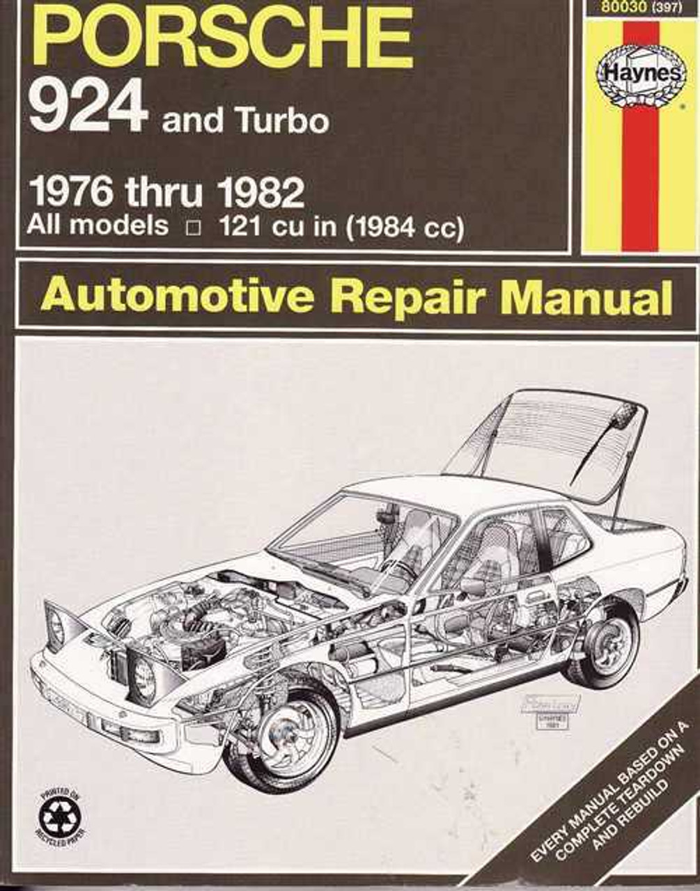 porsche 924 and turbo 1976 1982 workshop manual rh automotobookshop com au porsche 924 workshop manual porsche 924 owners workshop manual