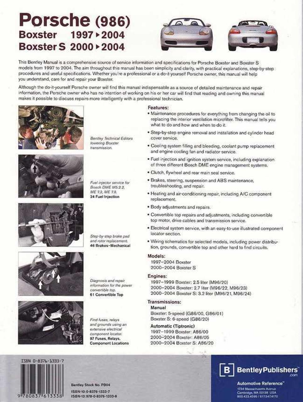 porsche boxster amp boxster s 1997 2004 workshop manual rh automotobookshop com au 1997 porsche boxster service manual 1997 Porsche Boxster Review