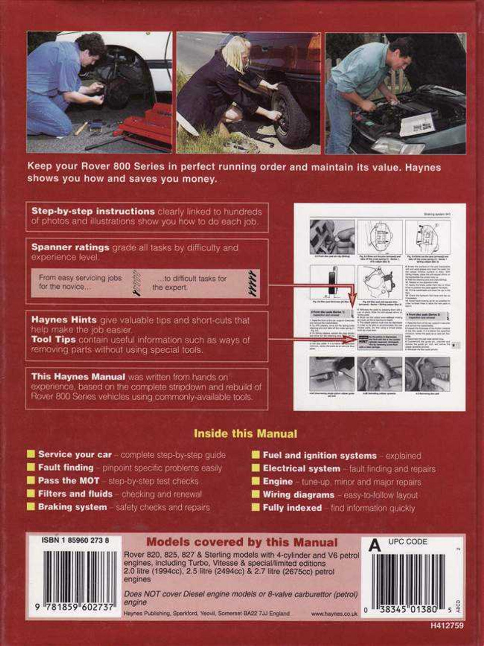 rover 820 825 amp 827 1986 1995 workshop manual rh automotobookshop com au Electronic Circuit Diagrams Rover 827 How Fast