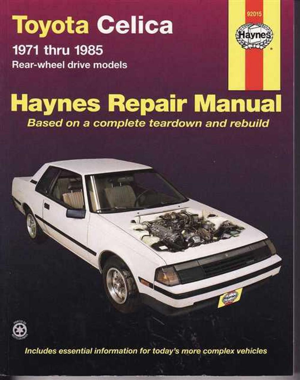 toyota celica rwd 1971 1985 workshop manual rh automotobookshop com au toyota celica haynes manual toyota celica haynes manual 2001