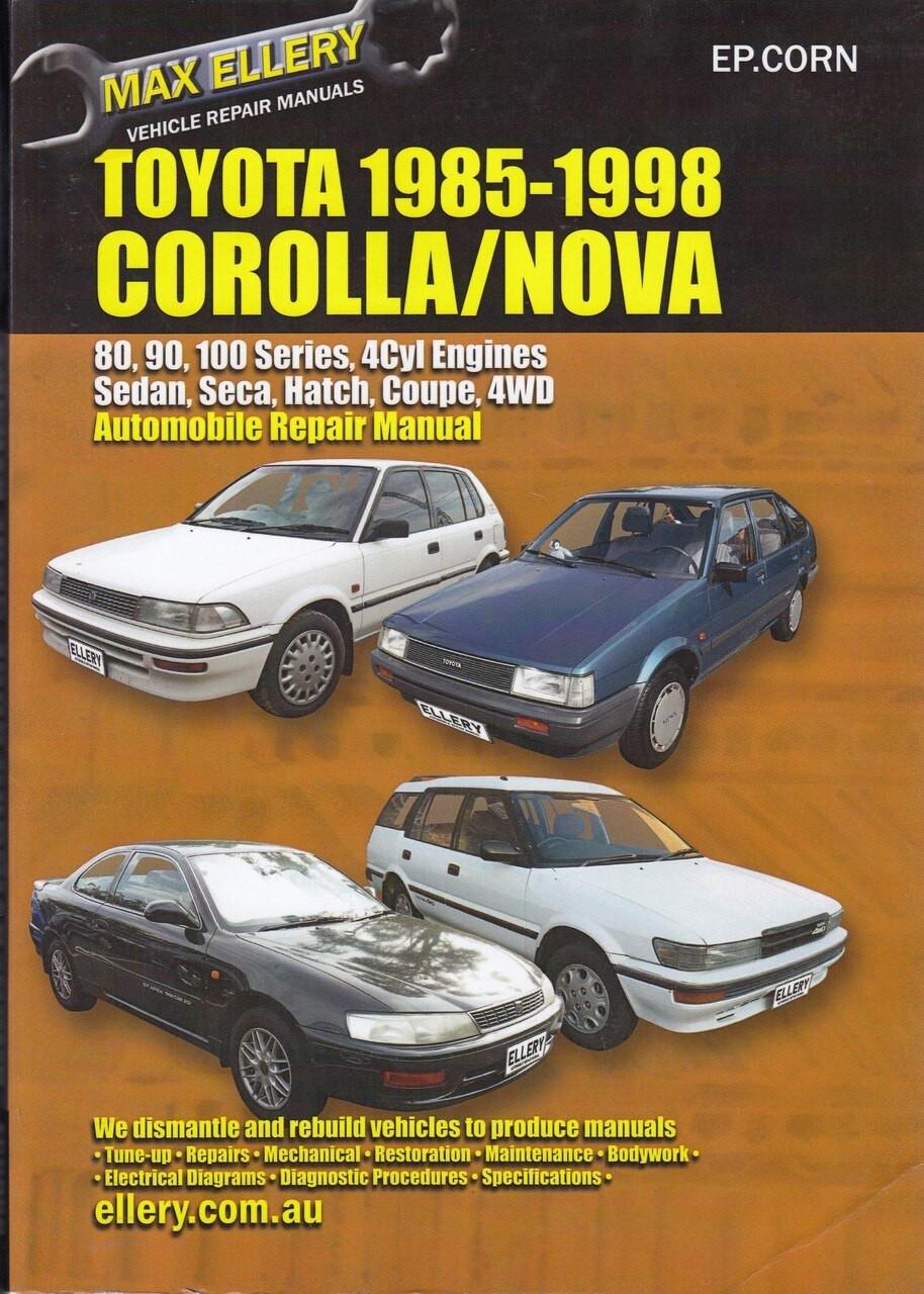 Toyota Corolla & Holden Nova 1985 - 1998 Workshop Manual ...