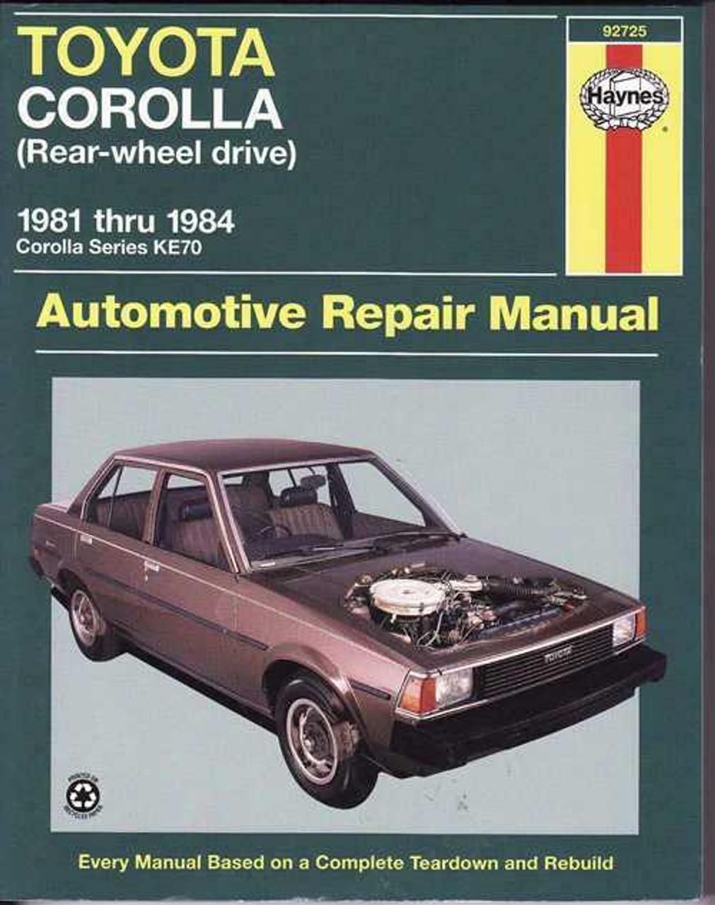 1986 toyota corolla workshop manual best setting instruction guide u2022 rh ourk9 co Collora Hybrid Thomas Collora