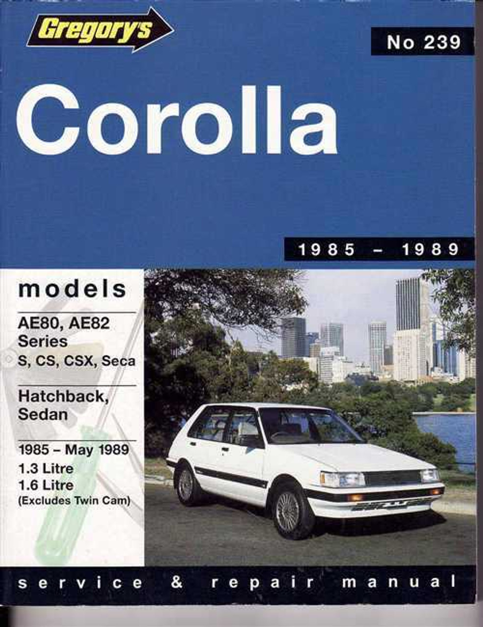 toyota corolla fwd ae80 ae82 series 1985 1989 workshop manual rh automotobookshop com au Toyota Corolla FX16 AE82 Toyota Corolla Interior