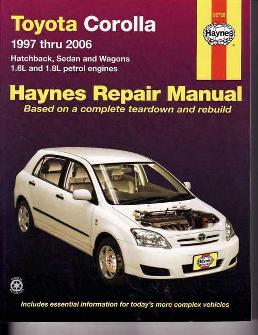 toyota corolla ae101 ae102 ae112 zze122 series 1997 2006 rh automotobookshop com au