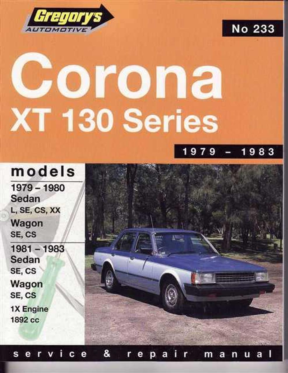 toyota corona xt 130 series 1979 1983 workshop manual rh automotobookshop com au 1980 Toyota Corona 1978 Toyota Corona