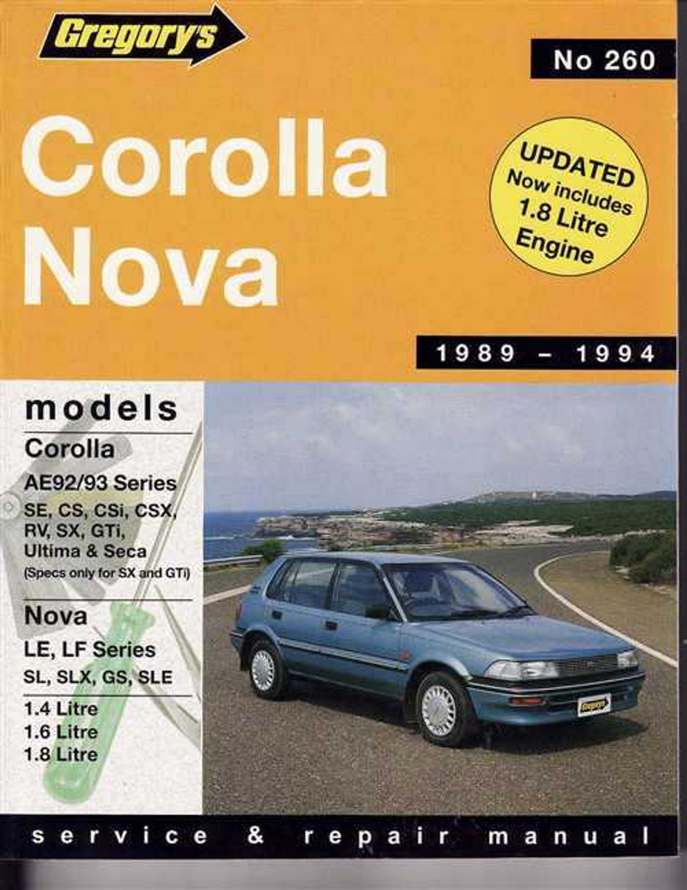 toyota corolla amp holden nova 1989 1994 workshop manual rh automotobookshop com au ae92 corolla workshop manual pdf toyota corolla ae92 repair manual pdf