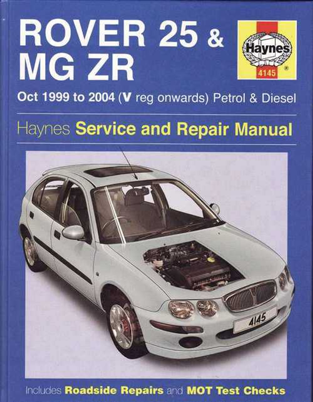 rover 25 amp mg zr 1999 2004 workshop manual rh automotobookshop com au Rover 600 rover 25 haynes manual