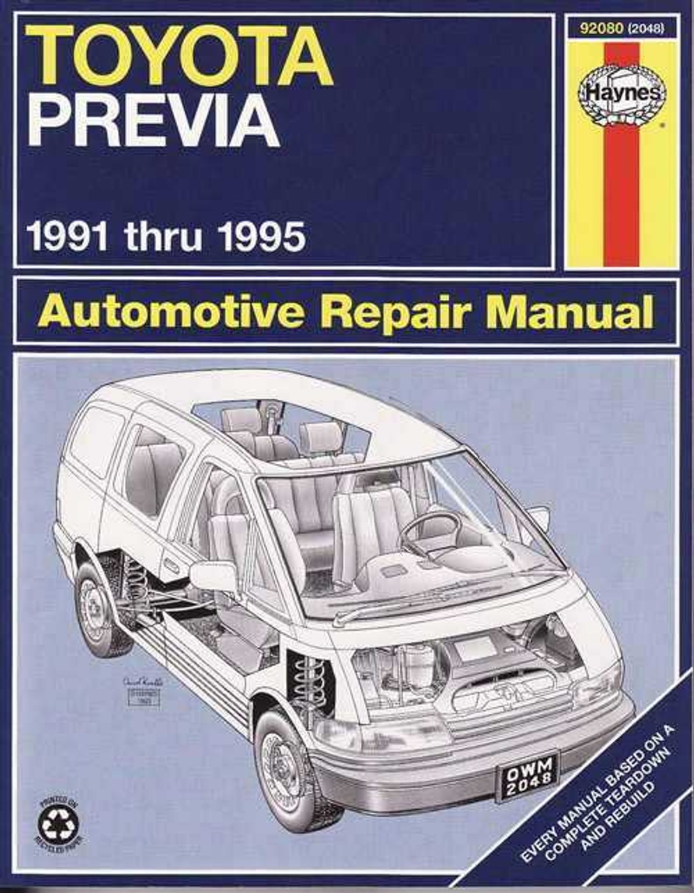 toyota tarago previa 1991 1995 workshop manual rh automotobookshop com au 2002 toyota tarago workshop manual 1991 toyota tarago workshop manual