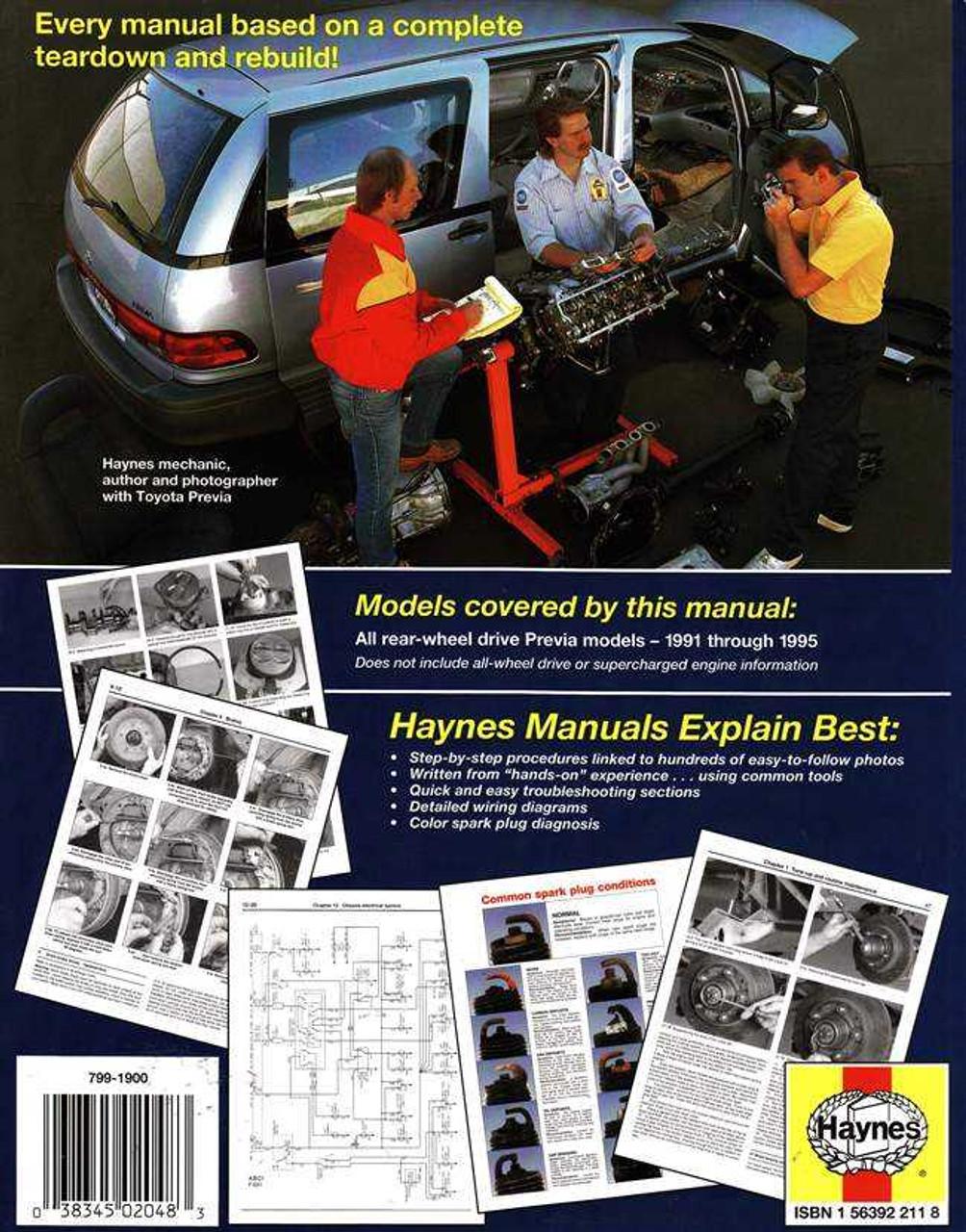 1992 Toyota Previa Wiring Diagram On Toyota Previa Wiring Diagram