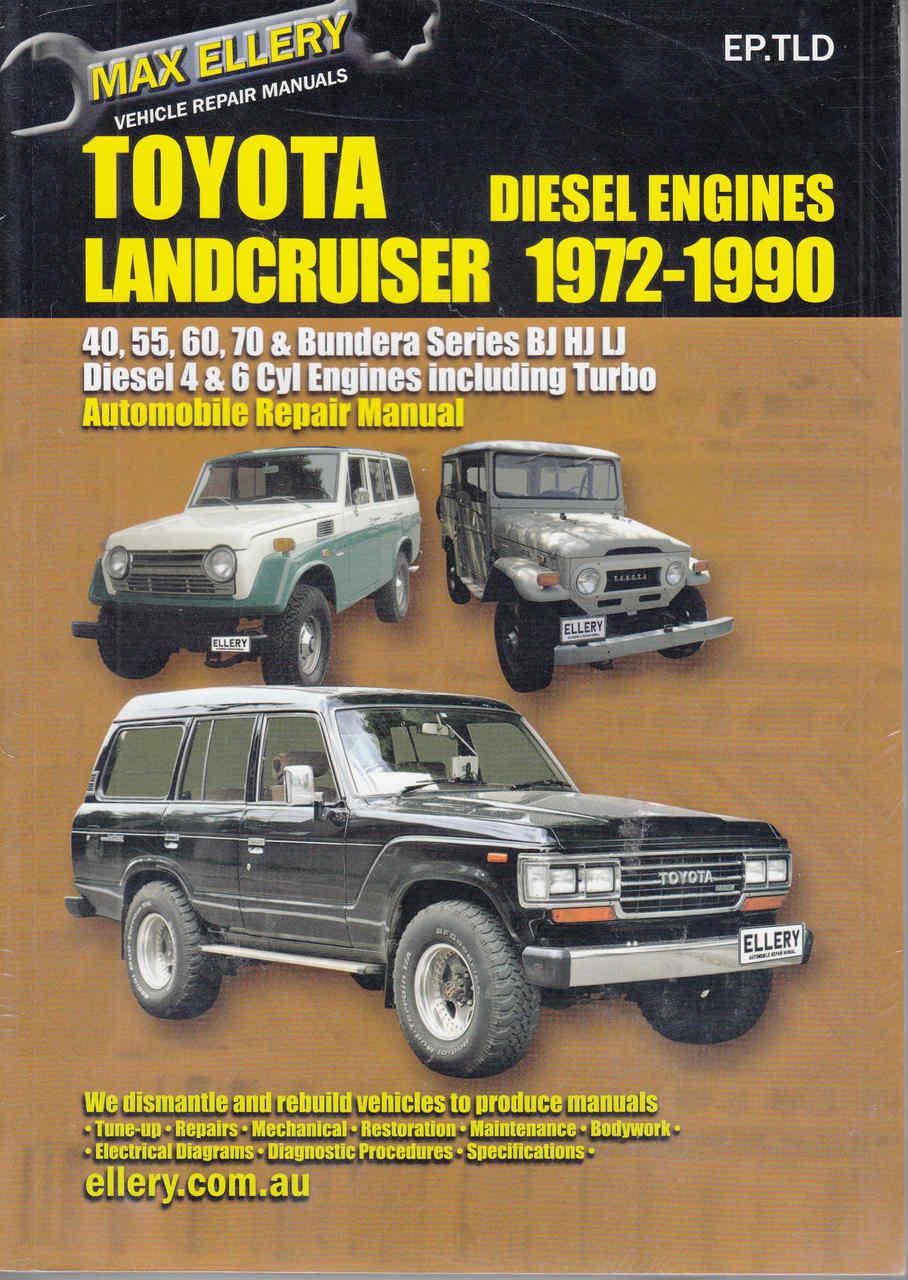 Toyota Land Cruiser Bj Hj Lj Series 1972 1990 Workshop Manual 1991 Engine Diagram Front