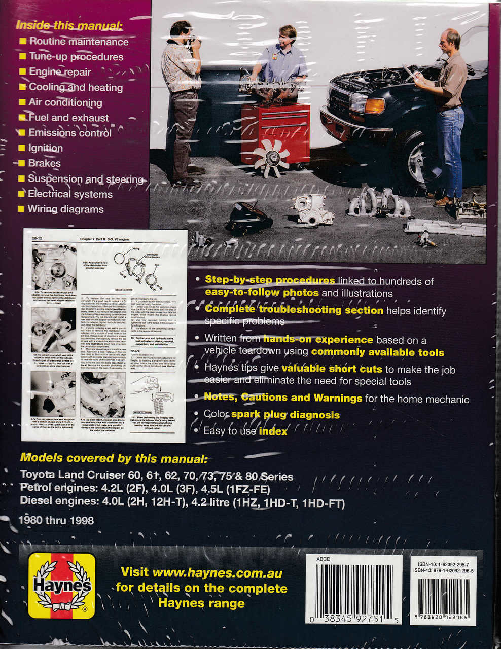 Toyota Land Cruiser Fj And Fzj Series Petrol Diesel 1980 1998 Wiring Diagram 1987 Fj60 Amp Workshop Manual