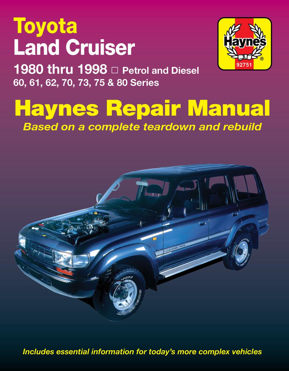 Toyota Land Cruiser Fj And Fzj Series Petrol Diesel 1980 1998 Fj55 Wiring Diagram Amp Workshop