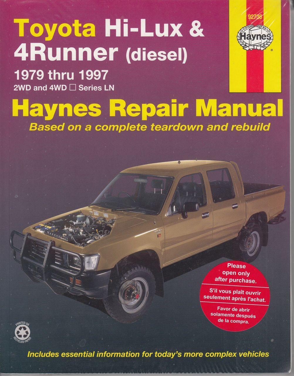 Toyota Hi-Lux 4Runner Diesel LN Series 1979 - 1997 Workshop Manual ...