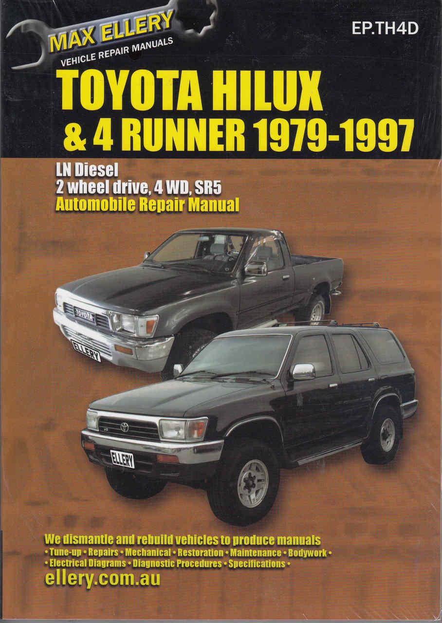 Toyota Hi-Lux & 4Runner Diesel LN Series 1979 - 1997 Workshop Manual ...