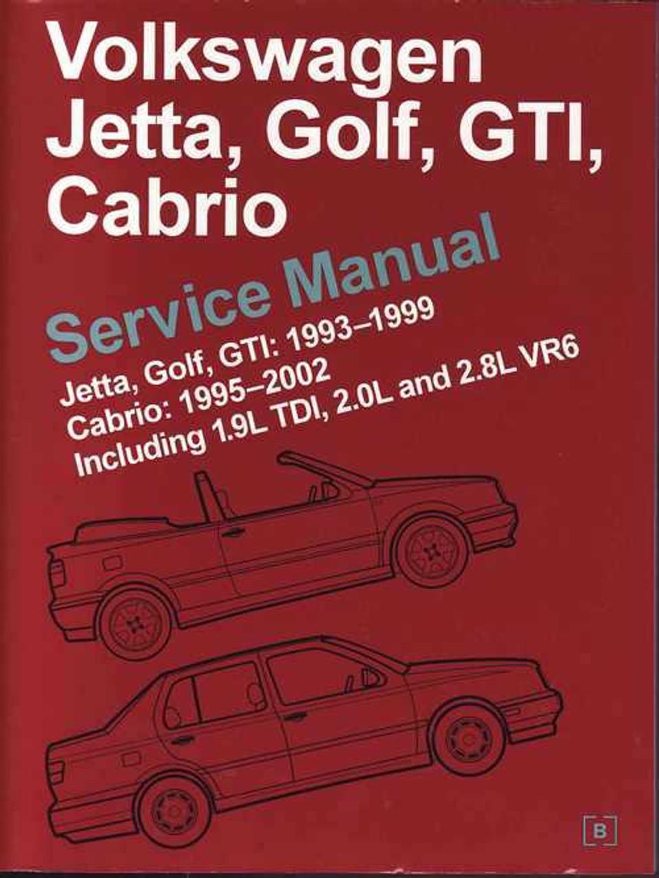 volkswagen jetta golf gti cabrio 1993 2002 workshop manual rh automotobookshop com au volkswagen golf 3 service manual pdf vw golf 3 1996 service manual