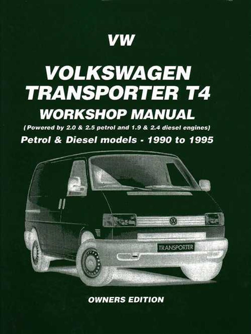 volkswagen transporter t4 1990 1995 workshop manual rh automotobookshop com au VW Caravelle Internal Inside VW Caravelle