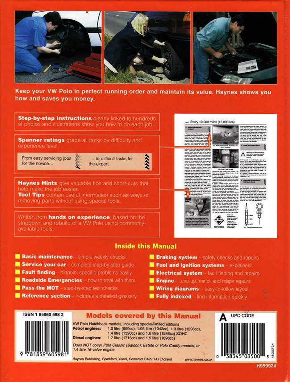 volkswagen polo 1994 1999 workshop manual rh automotobookshop com au 1996 Volkswagen Polo Cars Made in 1999