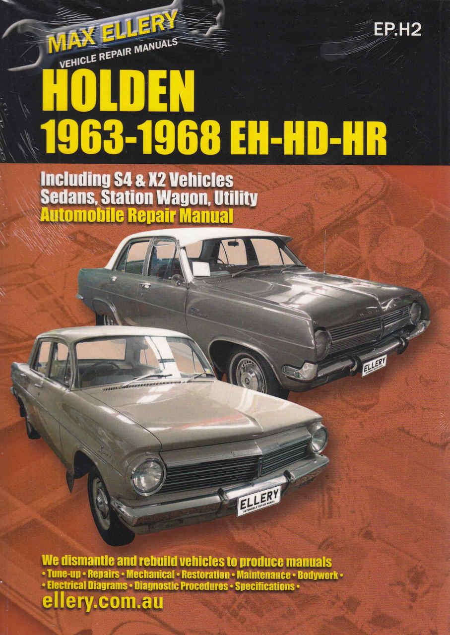 Holden EH, HD, HR Series 1963 - 1968 Workshop Manual - front ...