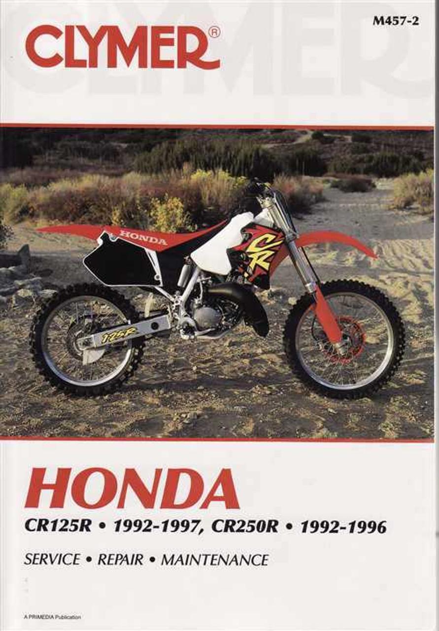 honda cr125r and cr250r 1992 1997 workshop manual rh automotobookshop com au 1998 honda cr125 owners manual 1998 honda cr125 manual