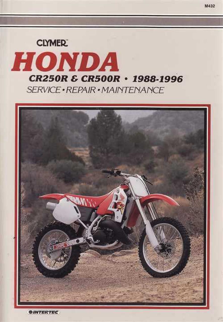 honda cr250r amp cr500r 1988 1996 workshop manual rh automotobookshop com au 2003 honda cr250 service manual 1998 CR250