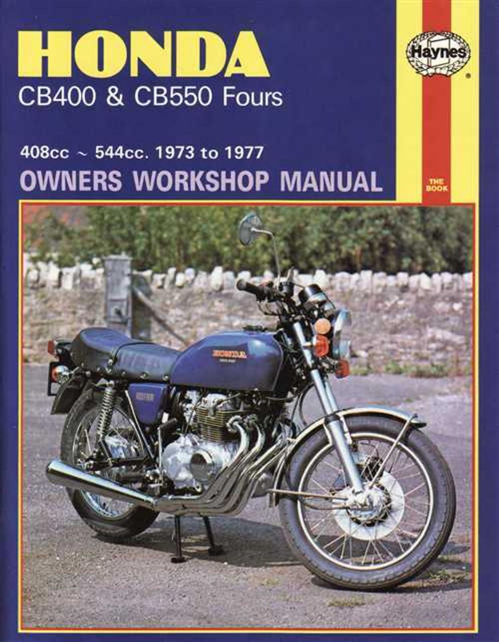 honda cb400 amp cb550 fours 408cc amp 544cc 1973 1977 workshop rh automotobookshop com au Honda CB450 Honda CB750
