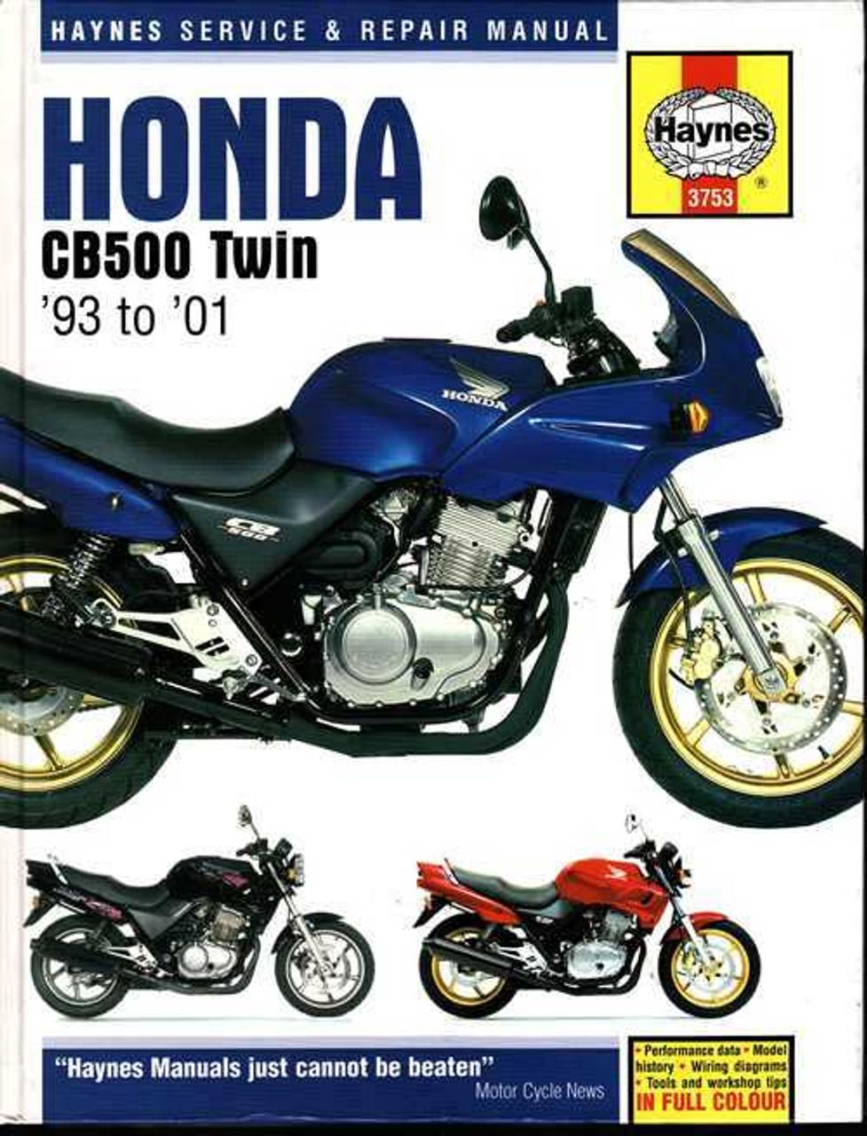 Honda CB500 Twin 1993 - 2001 Workshop Manual